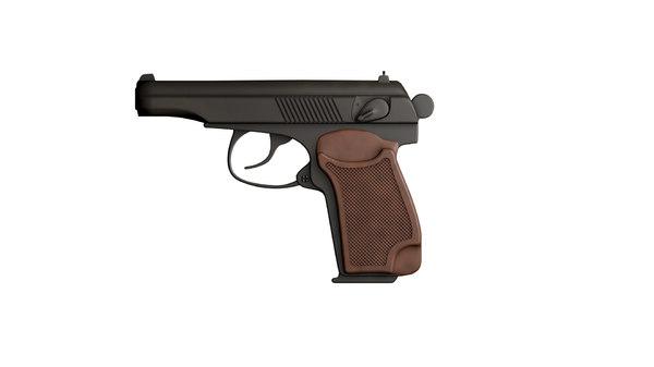 3d model russian 9mm handgun