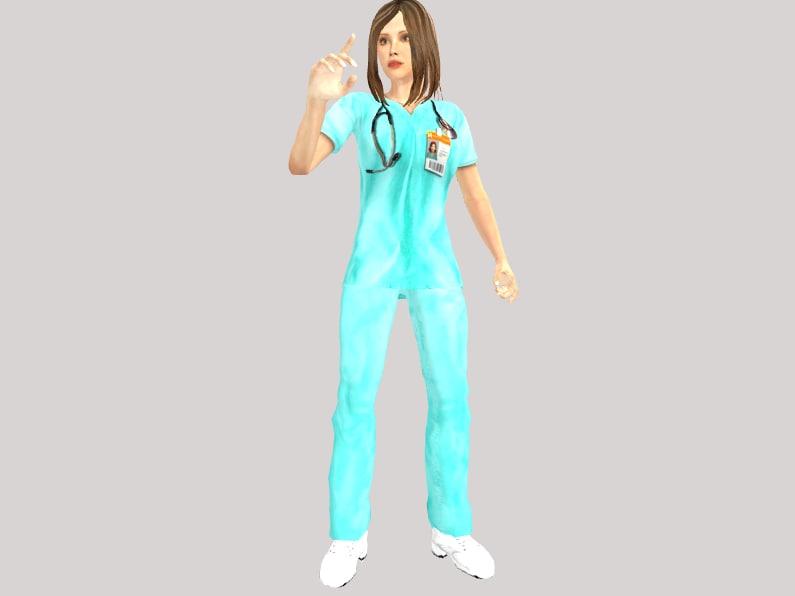 doctor female 3d ma