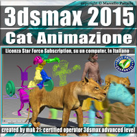3ds max 2015 Cat Animazione Subscription