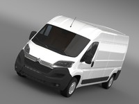 3d model citroen relay van l3h2