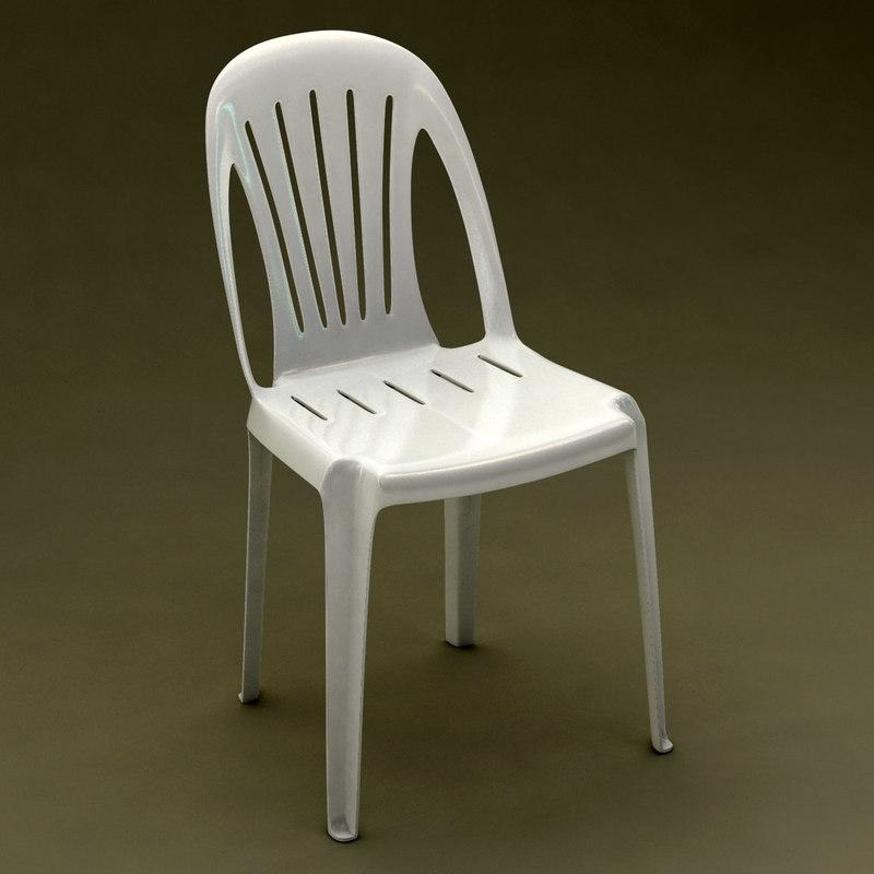 Monobloc Chair: 3d Max Realistic Monobloc Chair