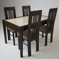 table alno chairs amarena 3d model