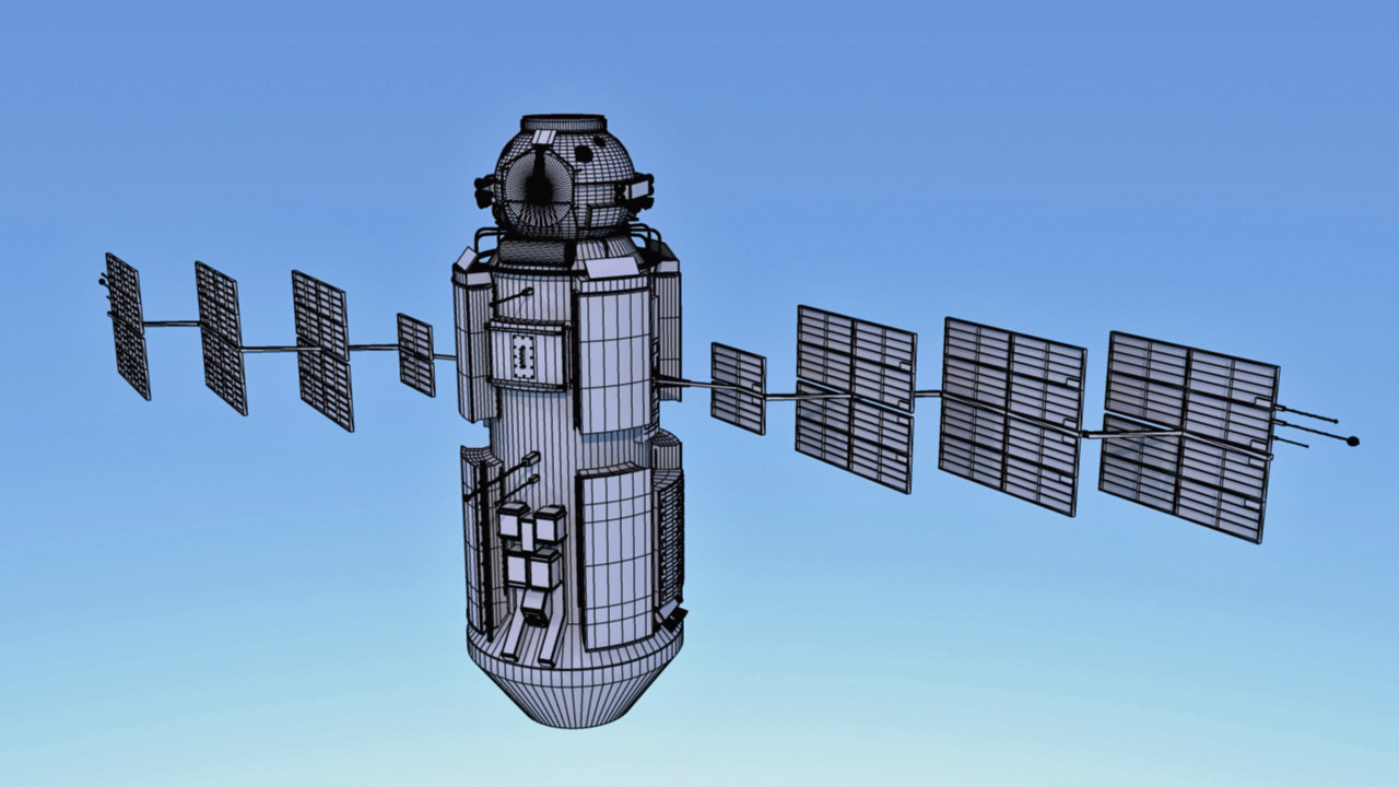 3d space station model