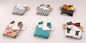 bed sheets 3d max