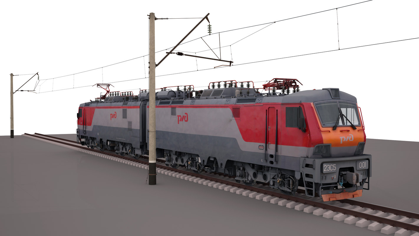 2es5 freight electric locomotive 3d max