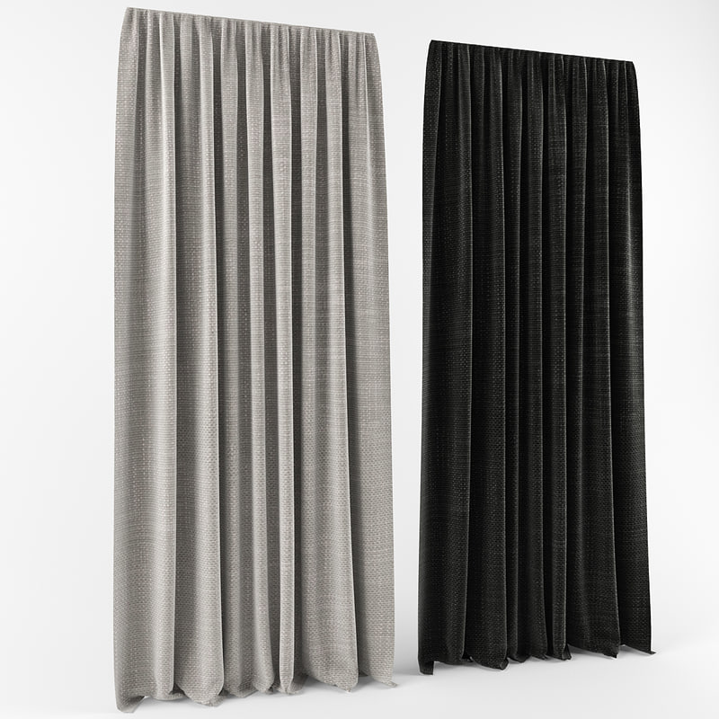 curtains modern style 3d max