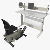 Elliptical Machine Office Desk