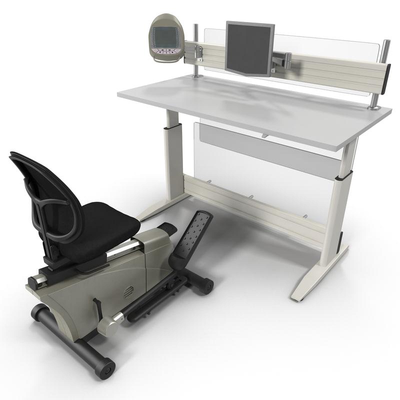 max elliptical machine office desk