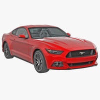 Sports Car Ford Mustang Coupe 2015