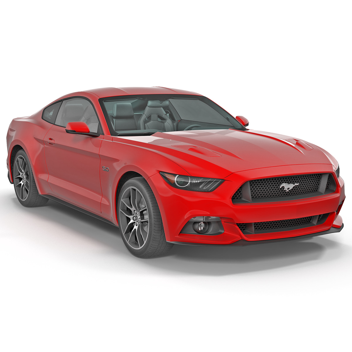3ds max sports car mustang coupe
