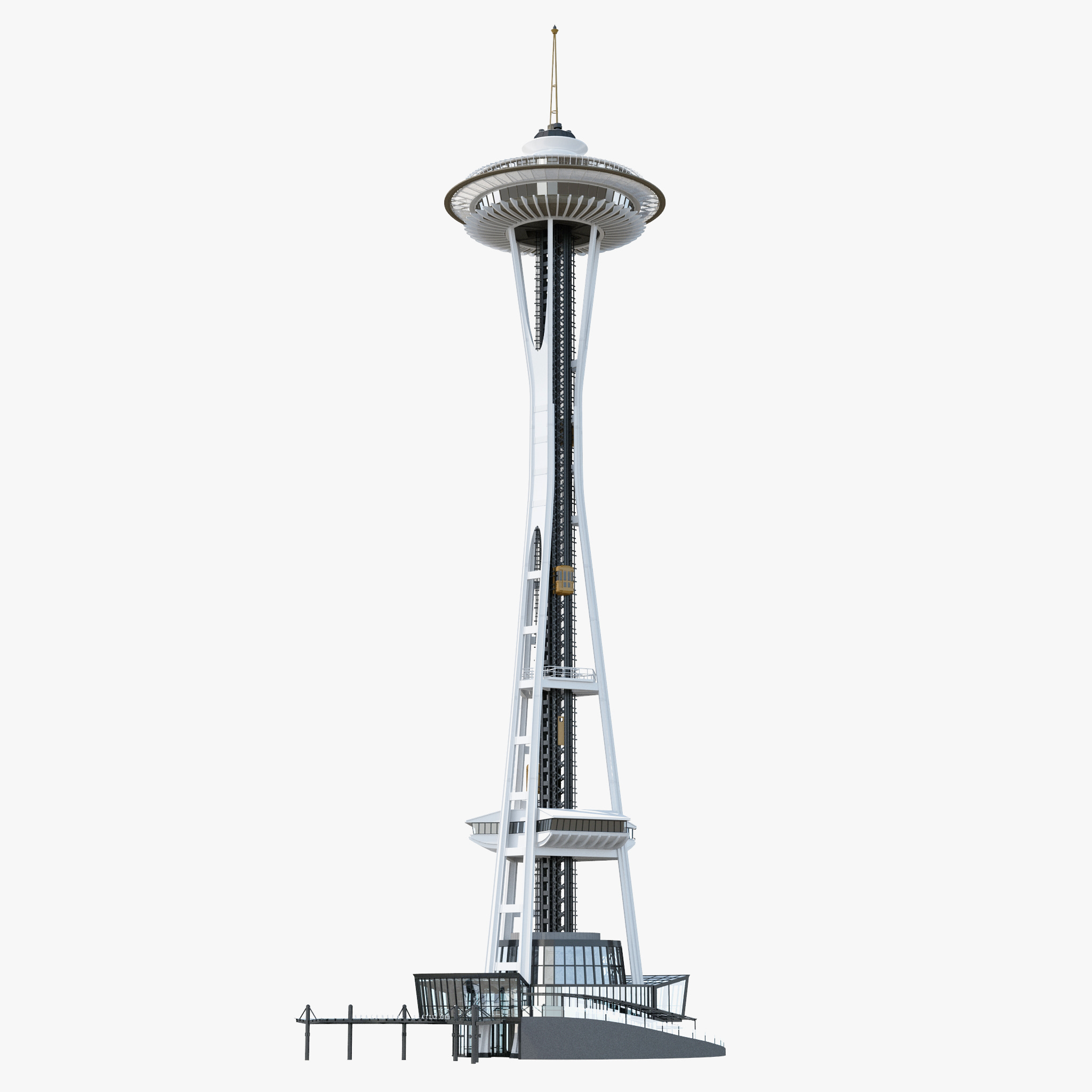 3d tower space needle