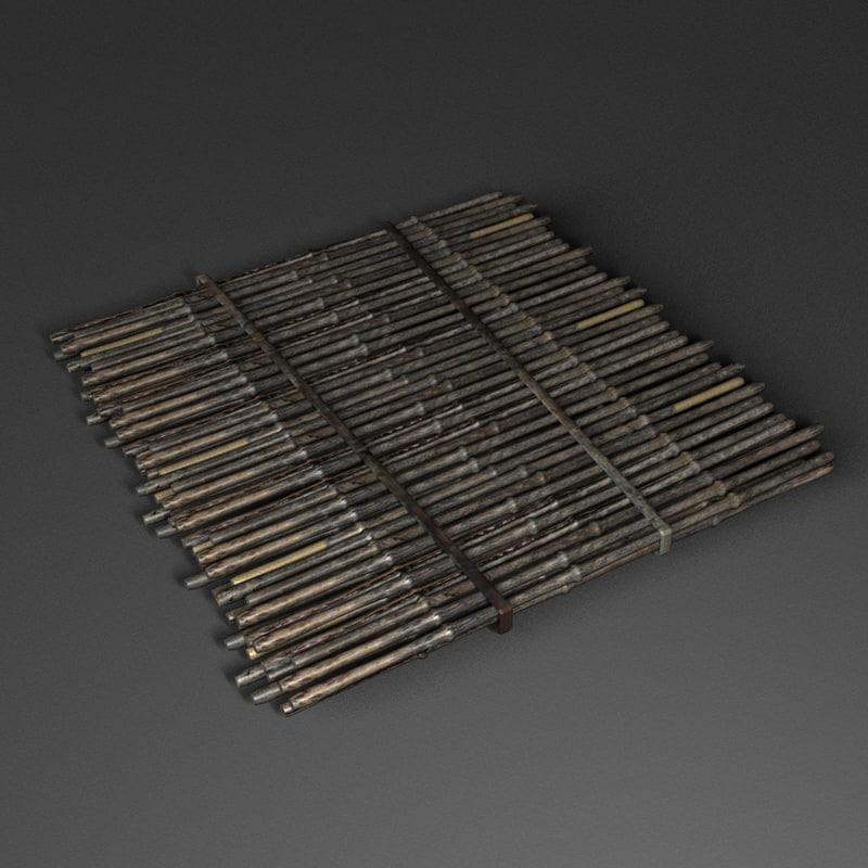 3d bamboo stick floor mat