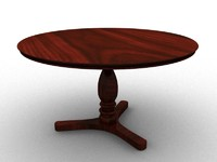 circle table 3d 3ds
