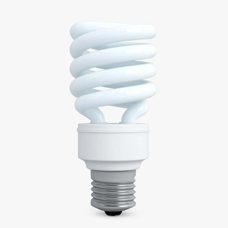 cfl energy efficient light bulb 3d fbx