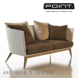 3d model of point arc outdoor 2-seater
