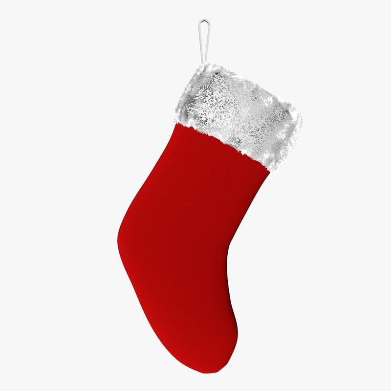 3d christmas sock model
