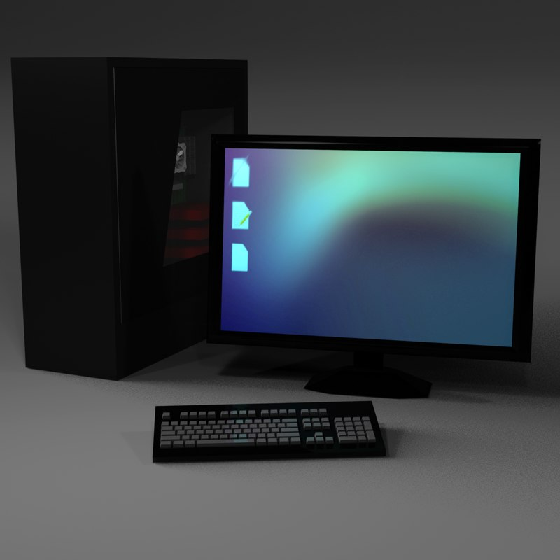 3d model desktop computer monitor