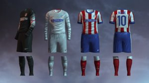 3ds max soccer jersey atletico madrid