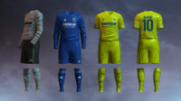 3d soccer jersey villarreal cf model