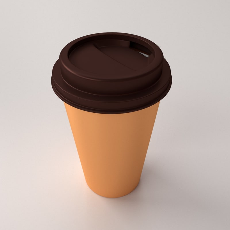 disposable coffee cup 3ds