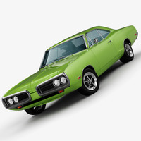 dodge coronet super bee 3d obj