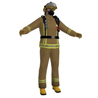3d model of fireman 2