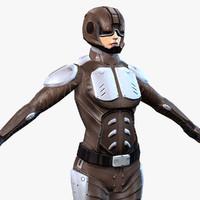 sci-fi armor female max