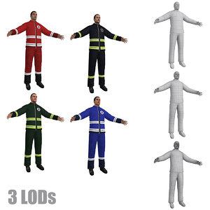paramedic lod s 3d model