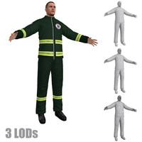 3d model paramedic 3 lod s