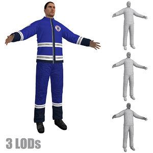 paramedic lod s 3d max