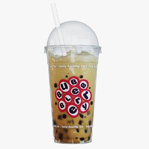 3d milkshake bubbleberry model