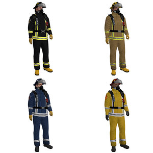 3d max pack rigged fireman