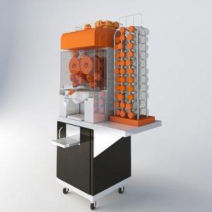3d orange juice machine model