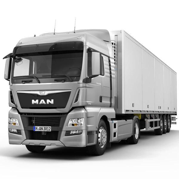 tgx xlx semi trailer 3d model