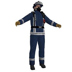 fireman 3 3d model