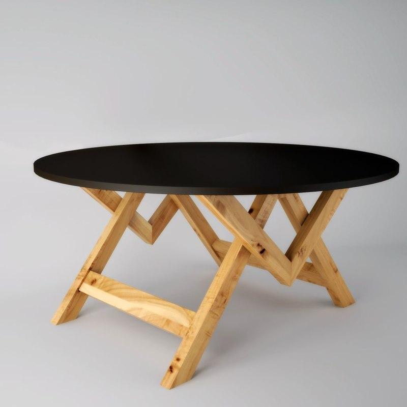 presentation table 3d model