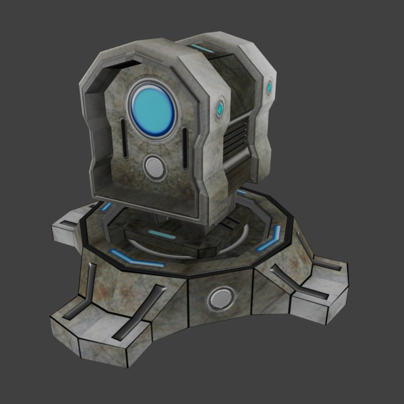 3d science fiction turret model