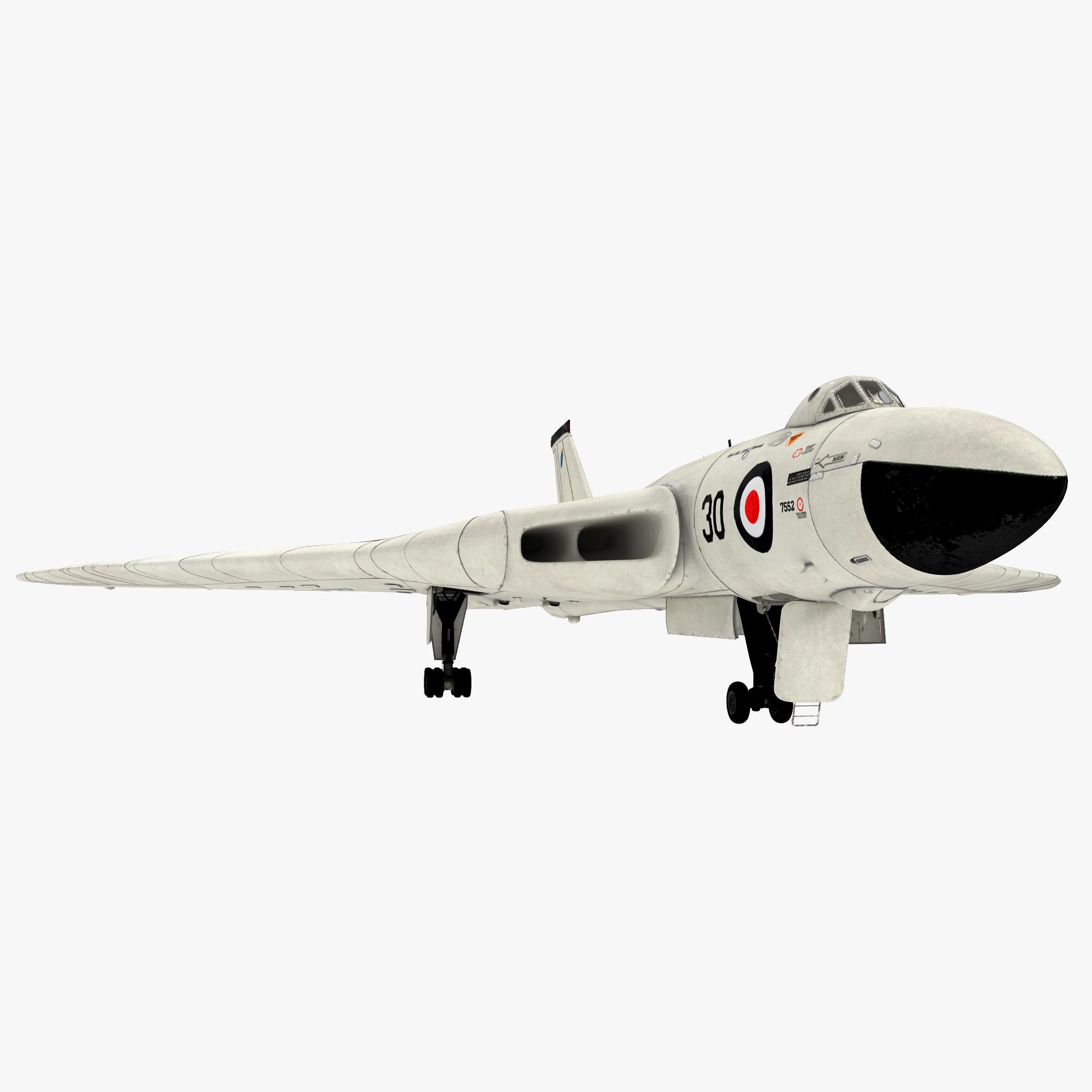 aircraft avro vulcan 3d c4d