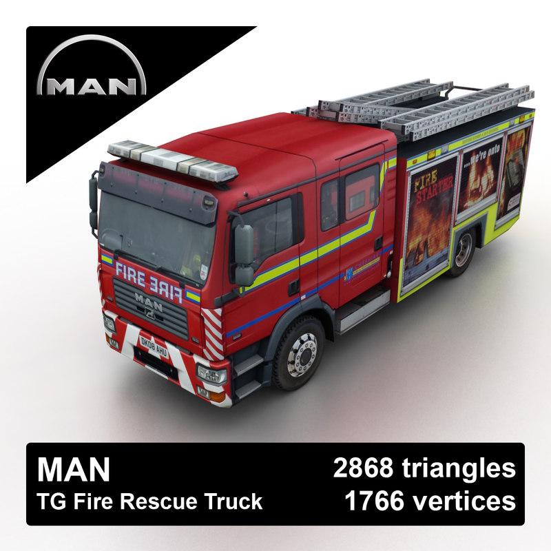 man tg rescue truck 3d max