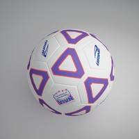 3d model football ball 8
