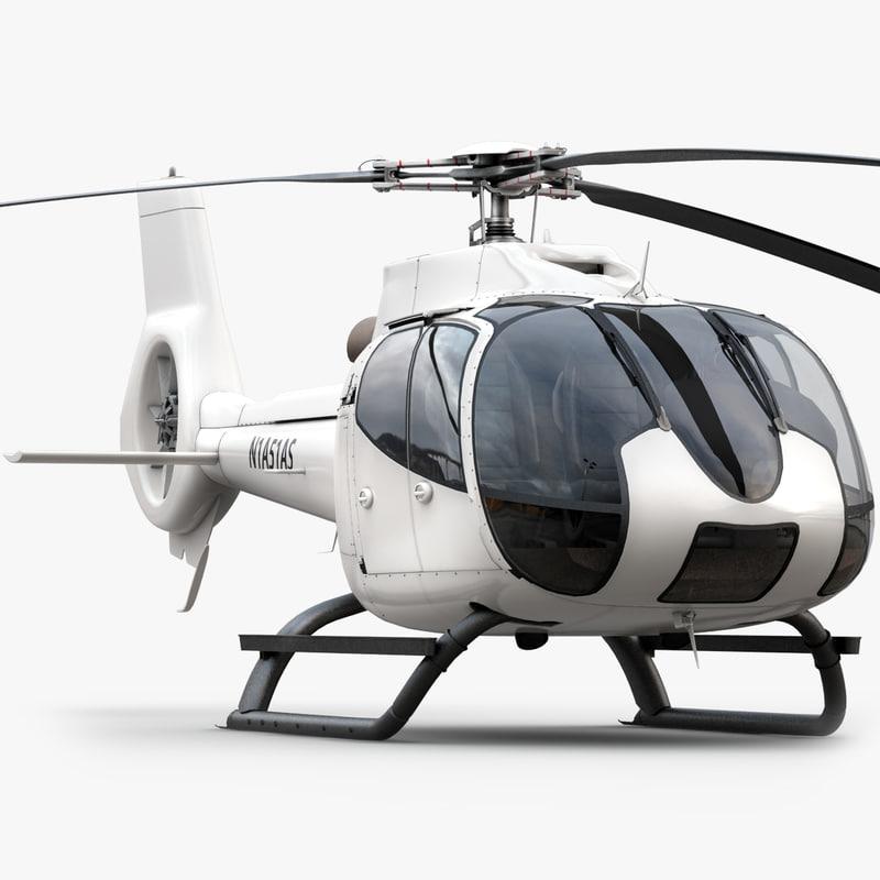 eurocopter ec 130 white max