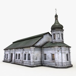 3ds max monastery refectory church