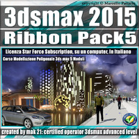 3ds max 2015 Modeling Ribbon 5 Volumi_Subscription