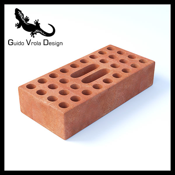 perforated brick 3ds free