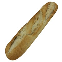 3d model french baguette - small