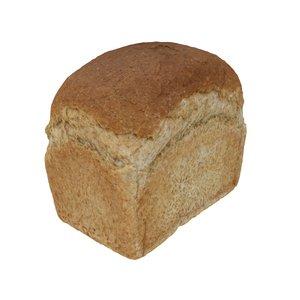 wholemeal loaf 3d model
