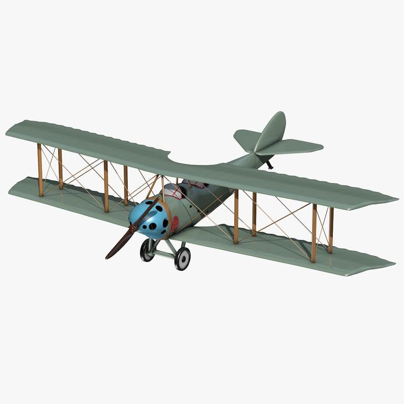 3ds biplane plane