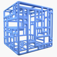 3d model of complex shape