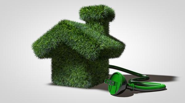 3d model green energy house
