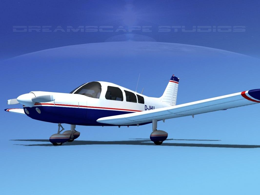 propeller piper pa-28 pa-28-235 3d lwo